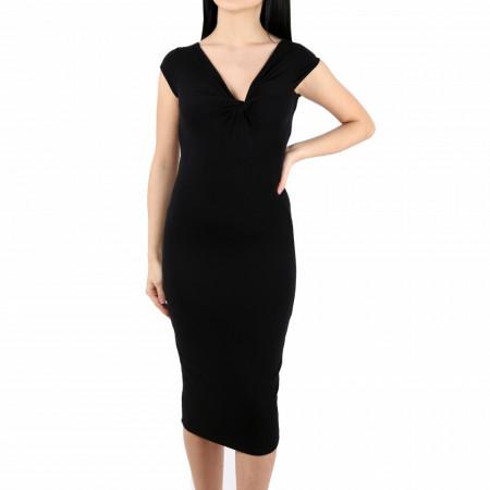 Rochie Caitlin Black - Rochie neagră fără mâneci, chic și elegantă, usor de accesorizat fiind ideală pentru orice eveniment. - Deppo.ro