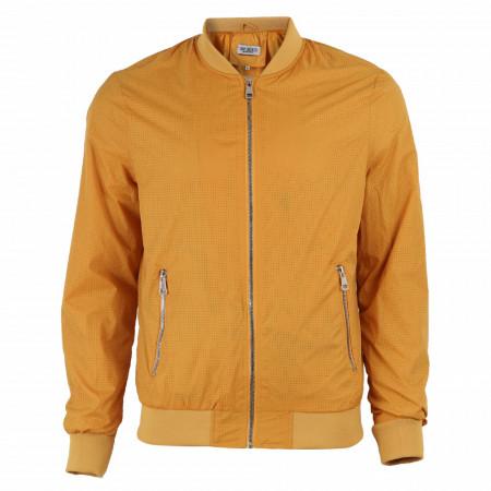 Geacă de fâş pentru bărbați cod P18085 Galbenă - Geacă pentru bărbați model primăvară-toamnă pe galben - Deppo.ro