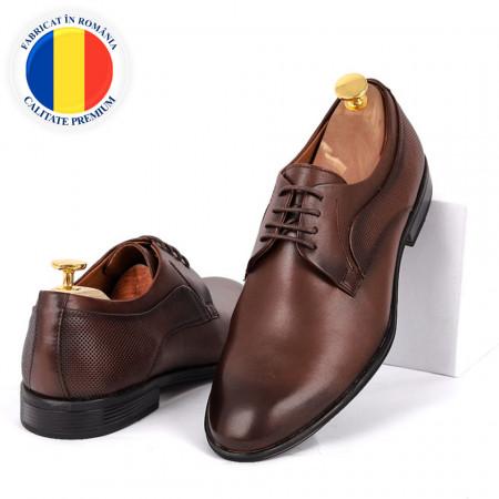 Pantofi din piele naturală Archie Maro - Pantofi din piele naturală, model simplu, finisaje îngrijite cu undesign deosebit prin vârful perforat - Deppo.ro