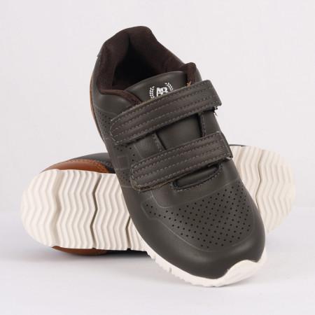 Pantofi sport pentru băieți cod CP72 Kaki - Pantofi sport pentru băieți, foarte comozi, ideali pentru ieșiri si practicarea exercitiilor în aer liber - Deppo.ro
