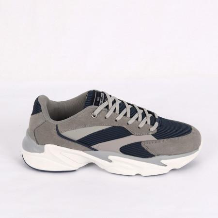Pantofi Sport pentru bărbați cod APW9026A-4 Gri - Pantofi sport pentru bărbați foarte comozi, ideali pentru ieșiri si practicarea exercitiilor în aer liber - Deppo.ro