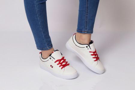 Pantofi Sport pentru dame Cod 458 WH - Pantofi sport pentru dame, din material textil  Foarte ușori și comozi  Închidere prin șiret. - Deppo.ro