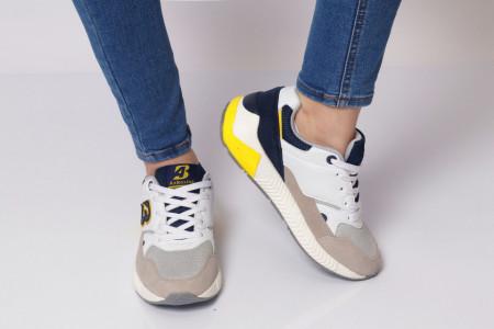 Pantofi Sport pentru dame Cod B0058-11 White - Pantofi sport pentru dame dinpanză,talpă din spumă  Foarte ușori și comozi  Închidere prin șiret. - Deppo.ro
