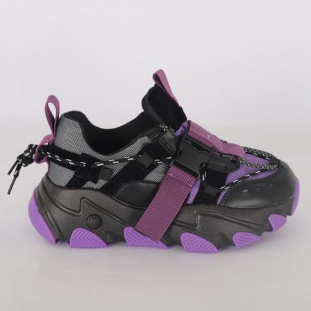 Pantofi Sport pentru dame cod H12 Violet - Pantofi sport pentru dame  Foarte comozi  Închidere prin șiret  Ideali pentru ieșiri și practicarea exercițiilor în aer liber - Deppo.ro