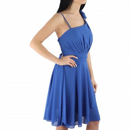Rochie Eli - Rochie casual albastră, simte-te atrăgătoare și misterioasă purtând această rochie și atrage toate privirile la următoarea petrecere. - Deppo.ro