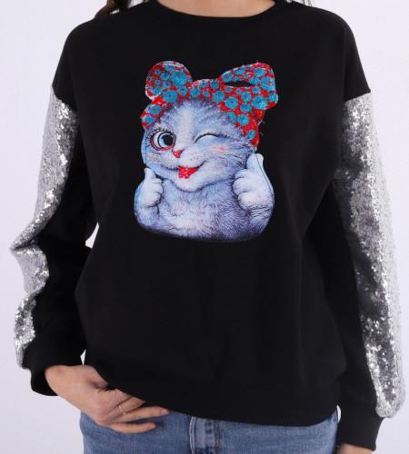 Bluza Neagra Talia - Cumpără îmbrăcăminte și incăltăminte de calitate cu un stil aparte mereu în ton cu moda, prețuri accesibile și reduceri reale, transport în toată țara cu plata la ramburs - Deppo.ro