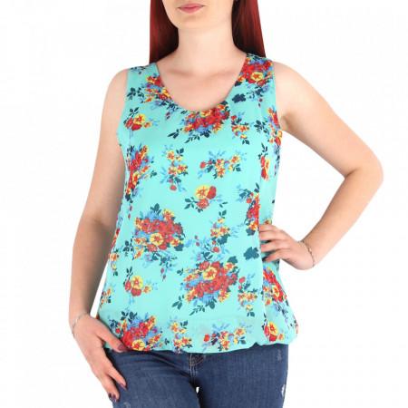 Bluză pentru dame cod FR45 Verde - Bluză pentru dame Model decorativ floral - Deppo.ro