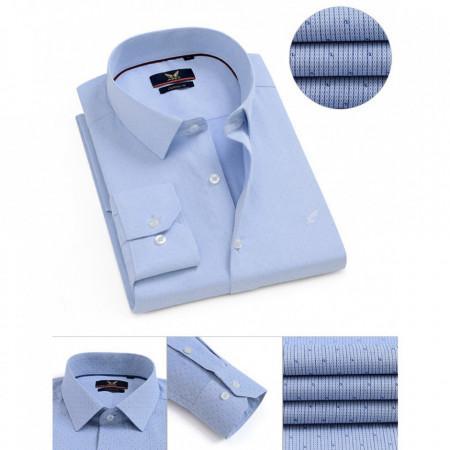 Cămaşă Classic Fit Azure cu mânecă lungă - Cămaşă albastru deschis pentru bărbaţi cu mânecă lungă şi croială Classic Fit. Compoziţie 80% bumbac, 20% poliester. - Deppo.ro