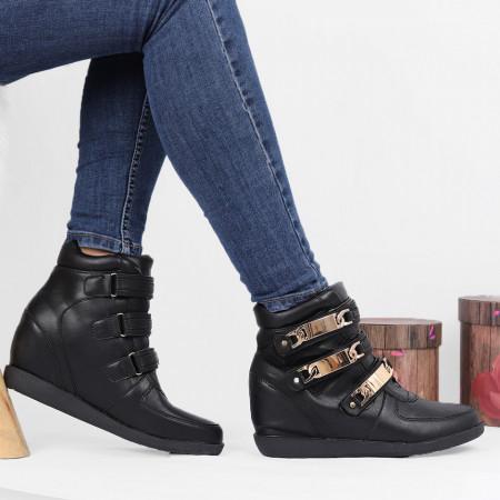 Pantofi Sport Cod 645 - Pantofi sport din piele ecologică cu platformă  Închidere prin scai  Foarte comfortabili - Deppo.ro