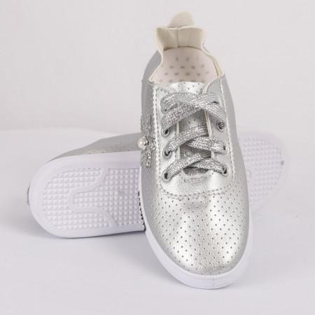 Pantofi sport cod CP81 Arginti - Pantofi sport din material textil cu talpă din spumă - Deppo.ro