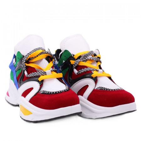 Pantofi Sport cod Y2 Roși - Pantofi sport din material textil respirabil și talpă din spumă - Deppo.ro