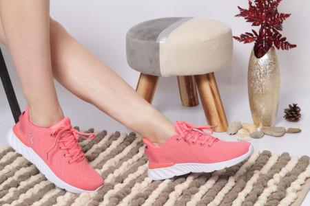 Pantofi Sport pentru dame Cod B09042 Pink - Pantofi sport pentru dame dinpanză,talpă din spumă  Foarte ușori și comozi  Închidere prin șiret. - Deppo.ro