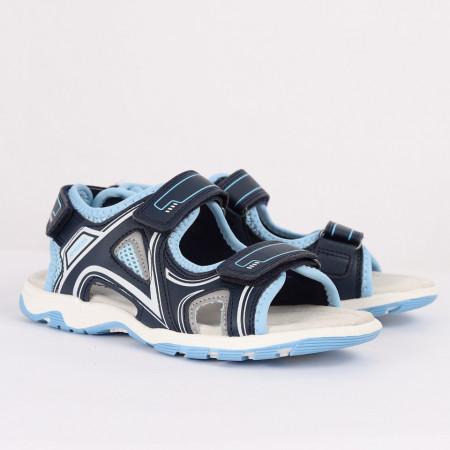Sandale pentru băieți cod CP62 Albastre - Sandale pentru băieți cu talpă din piele naturală - Deppo.ro