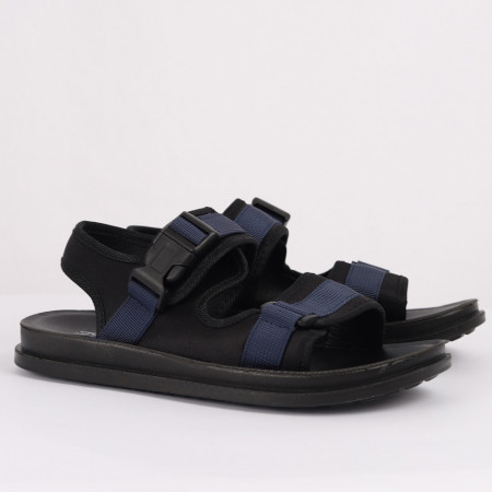 Sandale pentru băieți cod CP63 Negre - Sandale pentru băieți cu talpă din piele naturală - Deppo.ro