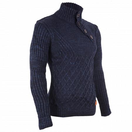 Bluză Alan Bleumarin - Bluza este cel mai versatil articol vestimentar din sezonul rece, o piesă cu reputaţie a stilului casual având compoziţia 50% lână 50% acrilic - Deppo.ro