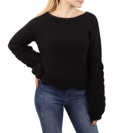 Bluză pentru dame cod F85 Black - Bluzăpentru dame - Deppo.ro