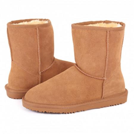 Cizme cod WB17030 Camel - Cizme tip UG din piele ecologică întoarsă cu interior îmblănit ideale pentru sezonul rece - Deppo.ro