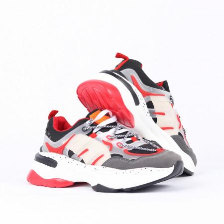 Pantofi Sport Adam - Pantofi sport din piele ecologică închidere cu șiret - Deppo.ro
