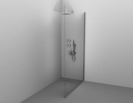 Paravan de duș ALUX BRILL - Echipament disponibil: sticla securizata tratata anticalcar; tiranti inox; sifon de pardoseala de tip rigola; se poate accesoriza cu panel de dus sau jeturi si baterii de perete. - Deppo.ro
