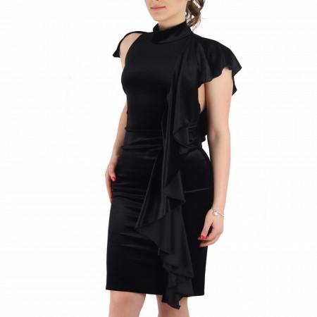 Rochie Arina Neagră - Rochie neagră fără maneci, simte-te atrăgătoare si misterioasă purtând rochia Arina și atrage toate privirile la urmatoarea petrecere. - Deppo.ro