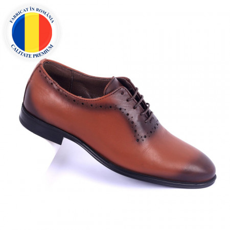 Pantofi din piele naturală Carmelo - Pantofi din piele naturală interior-exterior ideali la ținute casual sau elegante cu un calapod comod și închidere cu șiret - Deppo.ro