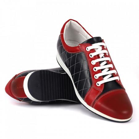 Pantofi Sport cod 77145 - Pantofi sport pentru bărbaţi din piele ecologică, model simplu, finisaje îngrijite cu undesign deosebit - Deppo.ro