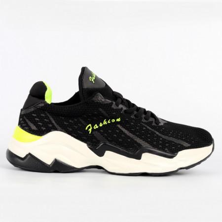 Pantofi Sport pentru bărbați cod B125 Black - Pantofi sport pentru bărbați  Ideali pentru ieșiri si practicarea exercitiilor în aer liber - Deppo.ro