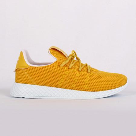 Pantofi Sport pentru bărbați galbeni cod GADO 234 Galbeni - Pantofi sport foarte comozi ideali pentru ieșiri sau practicarea exercitiilor în sala de sport - Deppo.ro