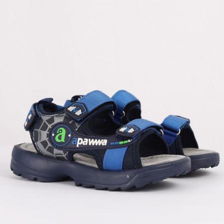 Sandale pentru băieți cod AX22 Albastre - Sandale pentru băieți cu talpă din piele naturală - Deppo.ro
