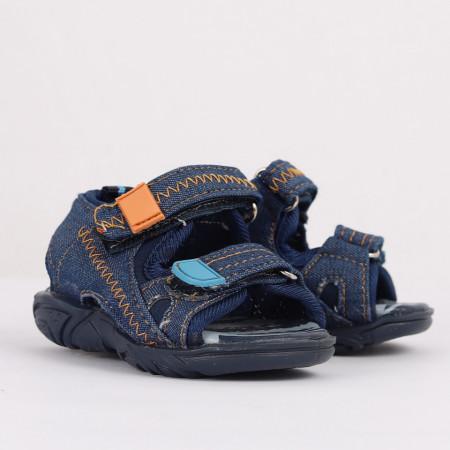 Sandale pentru băieți cod CP64 Bleumarin - Sandale pentru băieți cu talpă din piele naturală - Deppo.ro