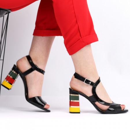 Sandale pentru dame din piele naturală cod S22 LN - Sandale pentru dama din piele naturală  Închidere prin baretă  Calapod comod - Deppo.ro