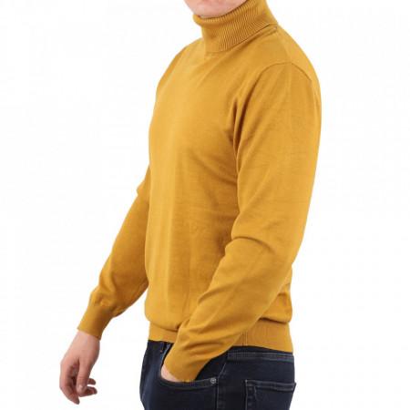 Bluză M-001 Yellow - Bluza simplă este cel mai versatil articol vestimentar din sezonul rece, o piesă cu reputaţie a stilului casual având compoziţia 50% Viscoză 28% PPTşi 22% Elastan - Deppo.ro