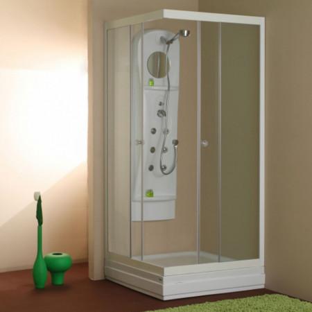 Cabină de duș CARLA ALB - Echipament disponibil: cadita turnata cu posibilitatea de montaj fara suport si masca direct pe pardoseala (acest tip de montaj necesita sifon ingropat in pardoseala); - Deppo.ro
