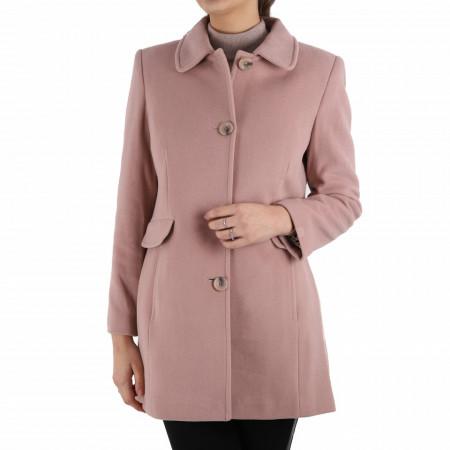 Palton Dakota Pink - Palton elegant cu închidere cu nasturi, căptușit pe interior. Îmbracă-l la rochii sau ținute office și asortează-l cu o pereche de mănuși din piele pentru un plus de eleganță. - Deppo.ro
