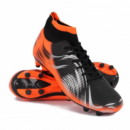Pantofi Sport cu crampoane cod BB01 Negri - Pantofi sport cu crampoane  Foarte comozi, cu material textil elastic pentru protectie sporita asupra gleznei,  Ideali pentru sporturi practicate pe teren cu gazon - Deppo.ro