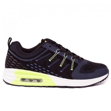 Pantofi sport Dane Black - Pantofi sport din material textil respirabil  Închidere prin șiret  Talpă din silicon - Deppo.ro