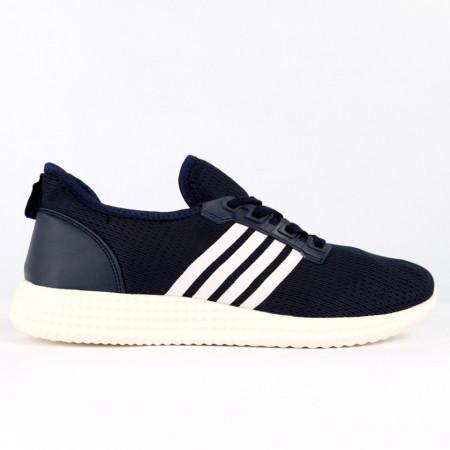 Pantofi Sport pentru bărbați cod 6113 Navy - Pantofi sport pentru bărbați  Ideali pentru ieșiri si practicarea exercitiilor în aer liber - Deppo.ro