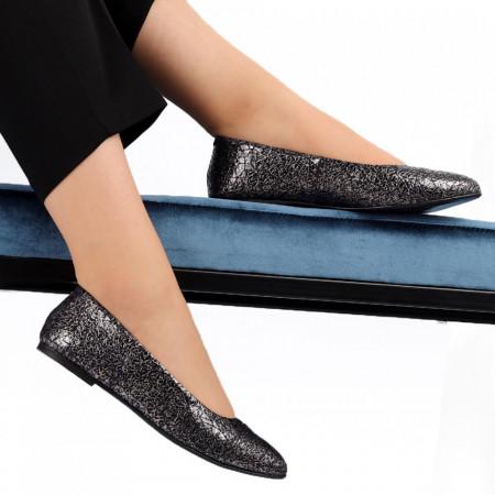 Balerini din piele naturală Cod 106 Sidef - Balerini damă din piele naturală  Model decorativ cu sclipici  Foarte confortabili  Conferă lejeritate si eleganță - Deppo.ro