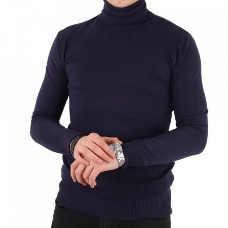 Bluză KPT-0212 Navy - Bluza simplă este cel mai versatil articol vestimentar din sezonul rece, o piesă cu reputaţie a stilului casual având compoziţia 50% Viscoză 28% PPTşi 22% Elastan - Deppo.ro