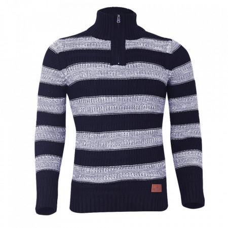 Bluză Marvin Bleumarin Cu Gri - Bluza este cel mai versatil articol vestimentar din sezonul rece, o piesă cu reputaţie a stilului casual având compoziţia 50% lână 50% acrilic - Deppo.ro