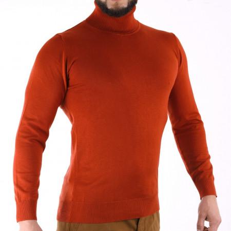 Bluză Maximilian Brick - Bluza simplă este cel mai versatil articol vestimentar din sezonul rece, o piesă cu reputaţie a stilului casual având compoziţia 81% Viscoză şi 19% Nailon - Deppo.ro