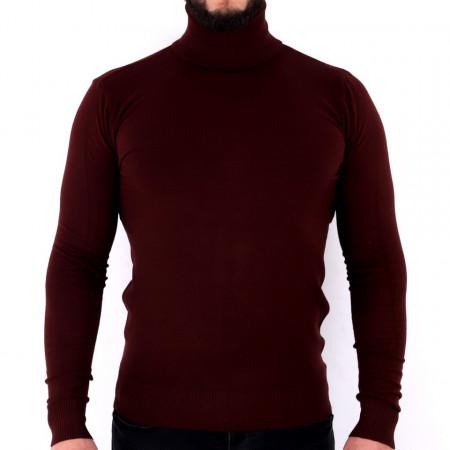 Bluză Maximilian Garnet - Bluza simplă este cel mai versatil articol vestimentar din sezonul rece, o piesă cu reputaţie a stilului casual având compoziţia 81% Viscoză şi 19% Nailon - Deppo.ro