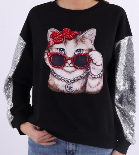 Bluza Neagra Lexi - Cumpără îmbrăcăminte și incăltăminte de calitate cu un stil aparte mereu în ton cu moda, prețuri accesibile și reduceri reale, transport în toată țara cu plata la ramburs - Deppo.ro