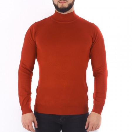 Bluză Xander Brick - Bluza simplă este cel mai versatil articol vestimentar din sezonul rece, o piesă cu reputaţie a stilului casual având compoziţia 81% Viscoză şi 19% Nailon - Deppo.ro