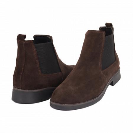 Ghete pentru din piele naturală pentru bărbați cod 41873 Maro - Produs din piele naturală, foarte confortabili cu un calapod comod - Deppo.ro