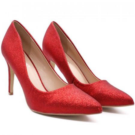 Pantofi cu toc cod 0361 Roși - Cumpără îmbrăcăminte și incăltăminte de calitate cu un stil aparte mereu în ton cu moda, prețuri accesibile și reduceri reale, transport în toată țara cu plata la ramburs - Deppo.ro