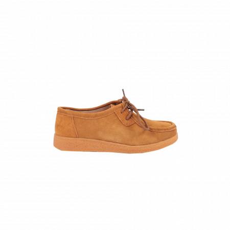 Pantofi din piele naturală cod 85171 Camel - Pantofi pentru dame din piele naturală cu talpă flexibilă - Deppo.ro