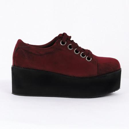 Pantofi pentru dame Cod B0008 Visini - Pantofii îți transformă limbajul corpului și atitudinea. Te înalță fizic și psihic! Pantofi pentru dame din piele ecologică lăcuită - Deppo.ro