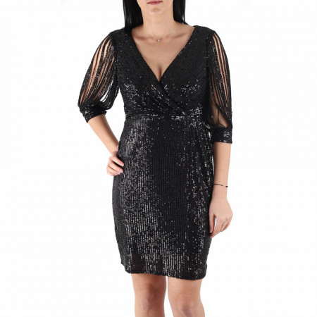 Rochie Elane Black - Rochie elegantă cu paiete, simte-te atrăgătoare purtând această rochie și strălucește la urmatoarea petrecere. - Deppo.ro