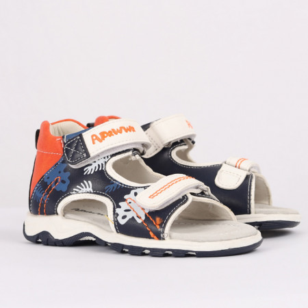 Sandale pentru băieți cod CP41 Bleumarin - Sandale pentru băieți cu talpă din piele naturală - Deppo.ro